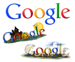 Google Halloween Logos for the Last Decade