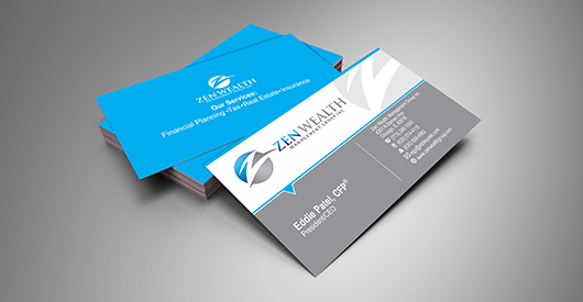 Wealth Management Firm Business Card Design