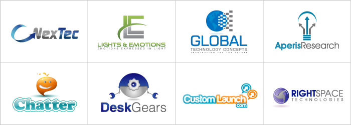 High tech logos logo design features 110designs blog for Global design company