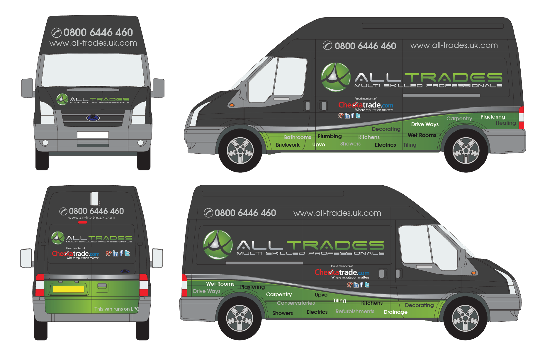 Vehicle graphics for ALL-TRADES | 110Designs