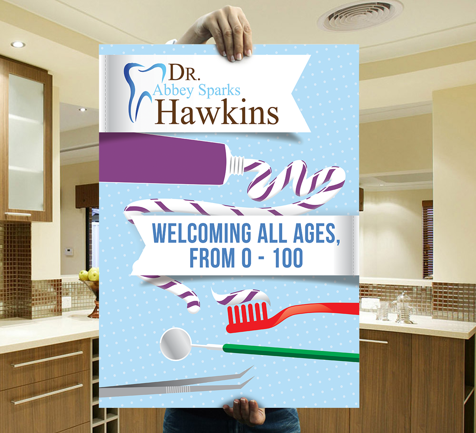 dentist advertisement poster board 110designs