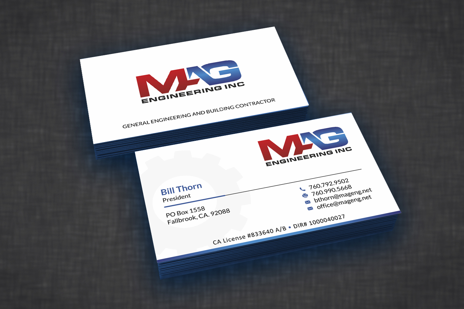 Business cards for mag engineering inc 110designs design for contest business cards for mag engineering inc reheart Choice Image