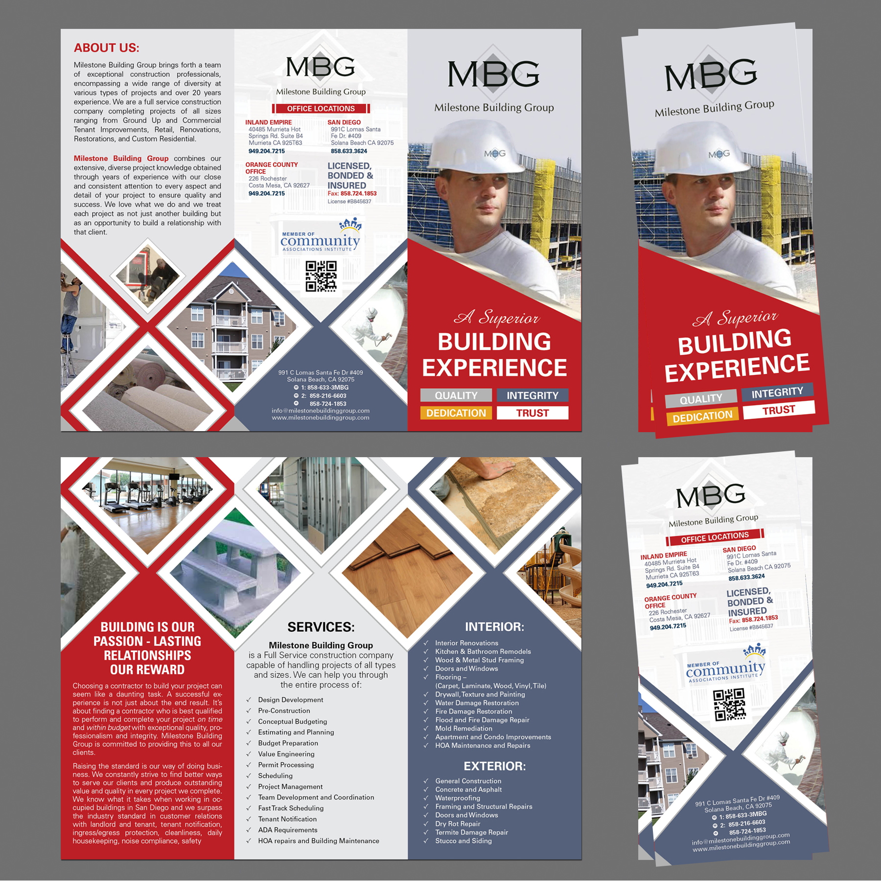 construction company tri fold brochure 110designs