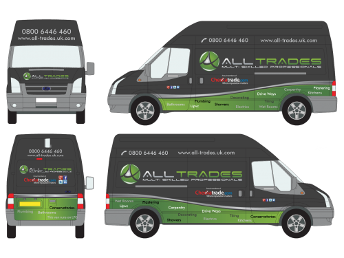 Winning design by lizacrea for Contest: Vehicle graphics for ALL-TRADES