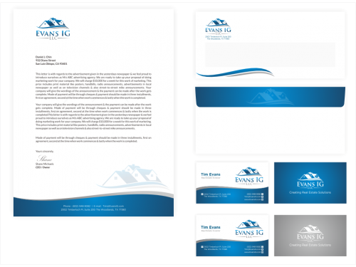 Winning design by Revdy for Contest: Stationary Design for Real Estate Investment Company