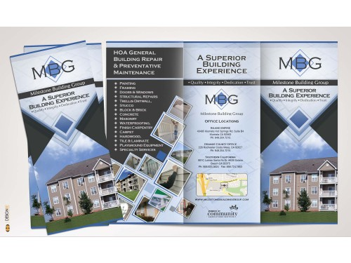 Winning design by Tander for Contest: Construction company Tri-fold brochure
