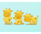 Cute graphic of Cow