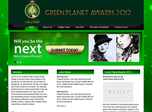 Green Planet Awards Website