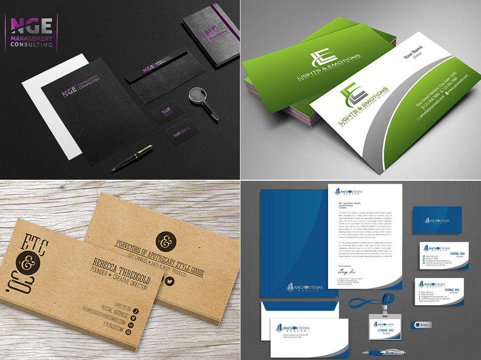 business card stationery custom design marketplace 110designs
